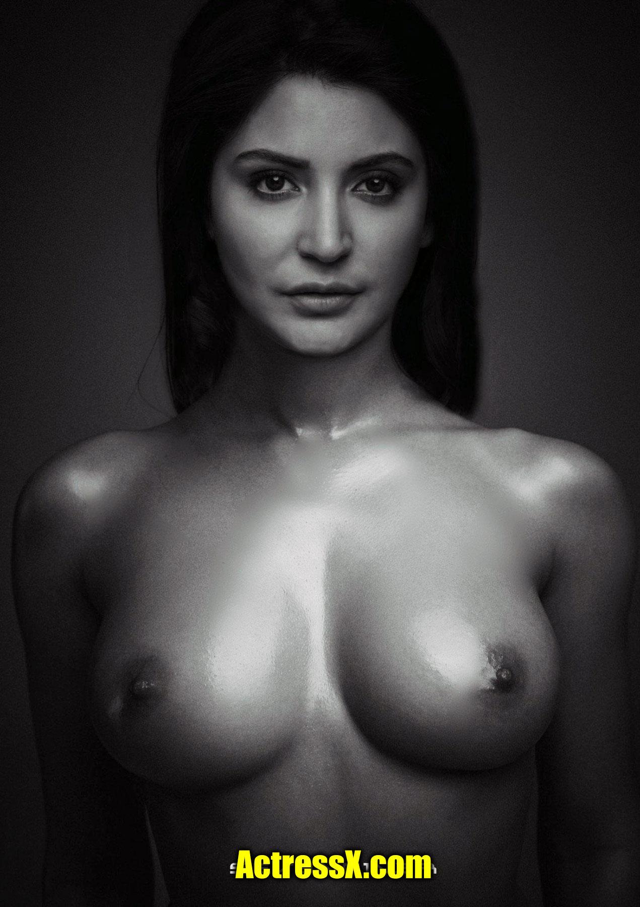 Anushka Sharma oilled boobs nipple fakes