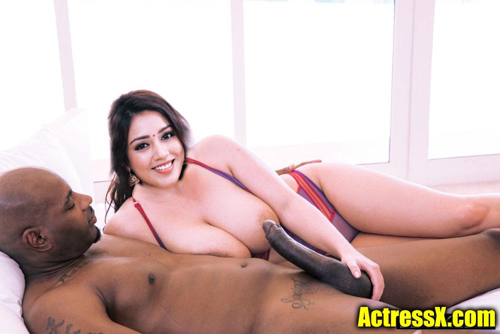 Busty boobs Nivetha Pethuraj handjob black cock
