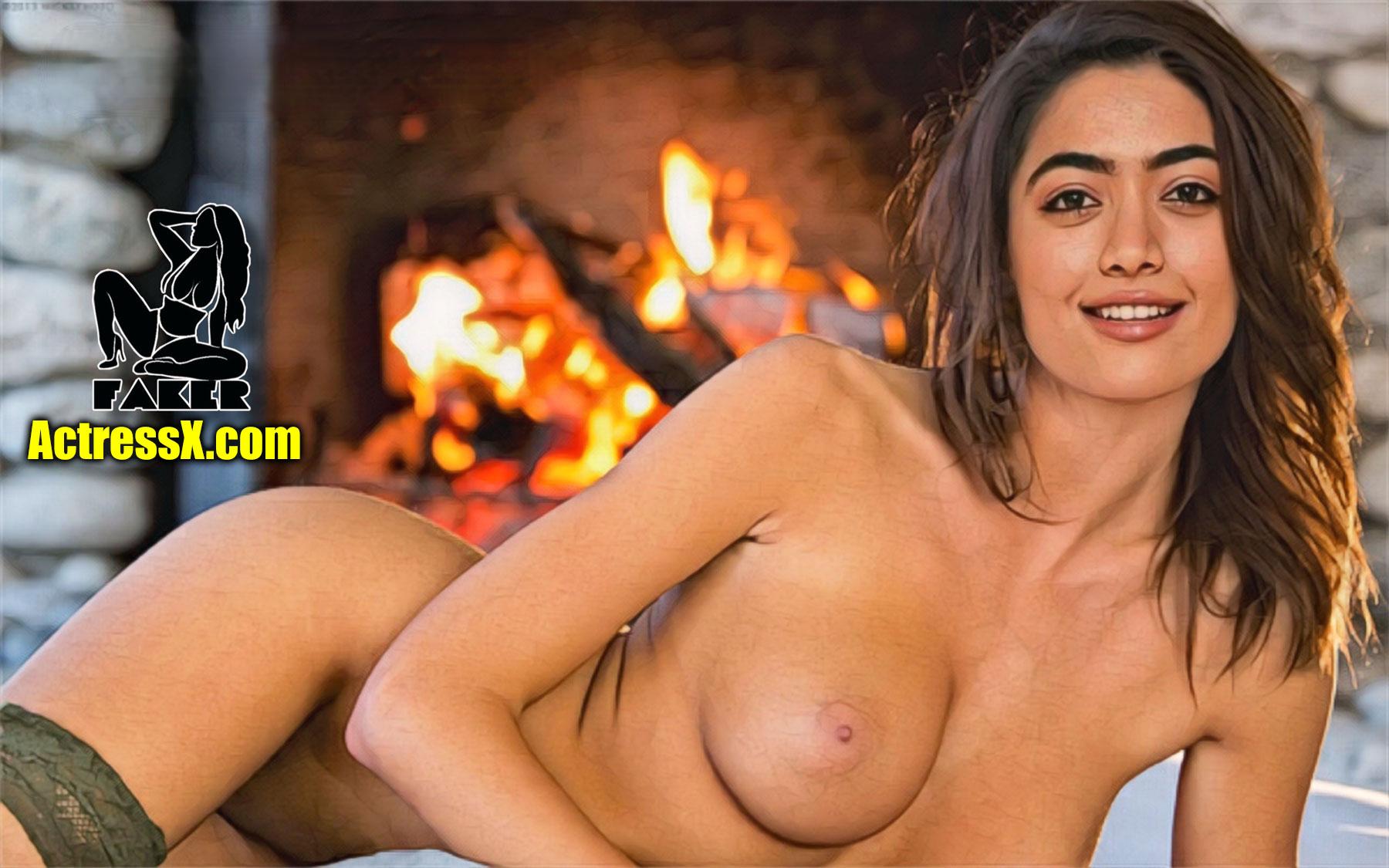 Hot Rashmika Mandanna boobs sexy photo nude ass naked nipple