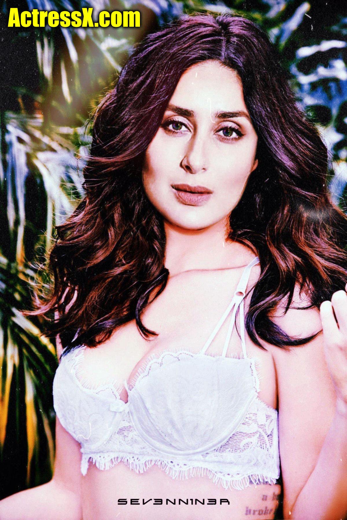 Kareena Kapoor hot bra cleavage fakes