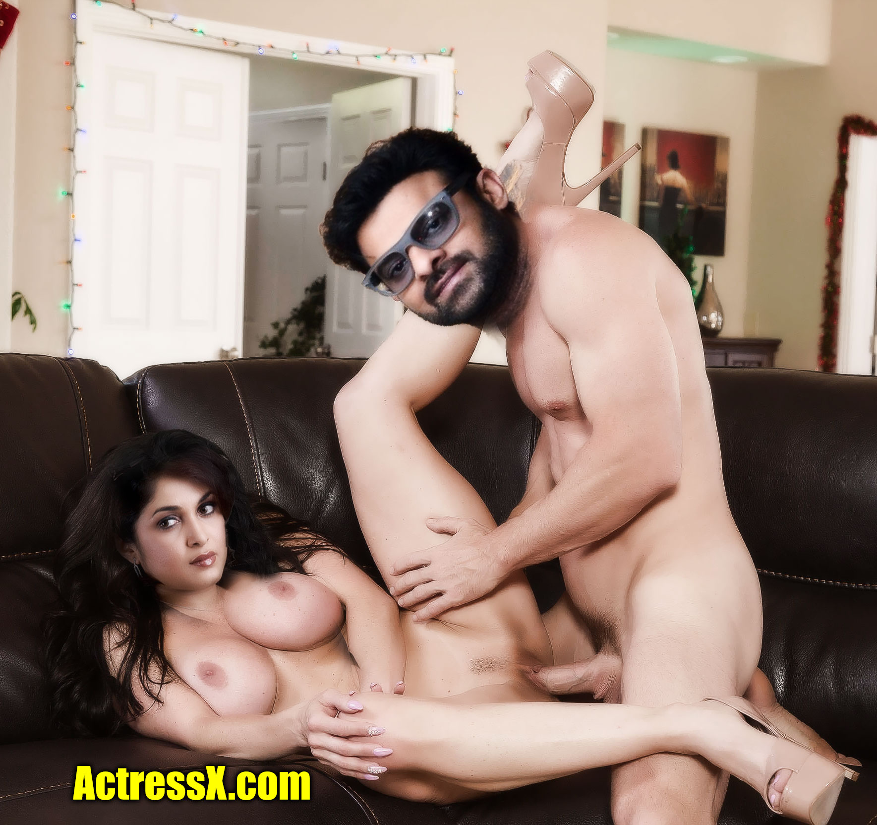 Prabhas private casting couch sex with naked milf mom Ramya Krishnan photo