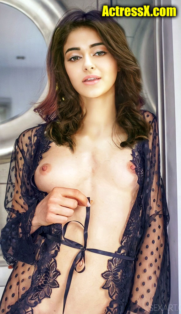Ananya Panday Sexy Dress Nude small boobs nipple tweet photo